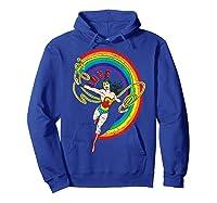 Wonder Woman Rainbow Love Shirts Hoodie Royal Blue