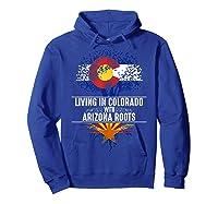 Colorado Home Arizona Roots State Tree Flag Love Gift Shirts Hoodie Royal Blue