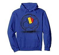 Romania Romanian Flag Design On Soccer Ball Artsy Football Shirts Hoodie Royal Blue