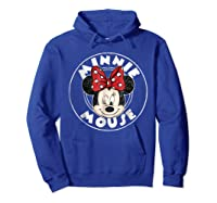 Circle Minnie Shirts Hoodie Royal Blue