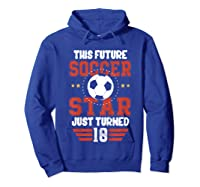 10th Birthday Soccer Birthday Boy Shirts Hoodie Royal Blue