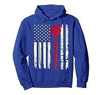 Football Shirt: Usa American Flag Sport Team Fan T-shirt Hoodie Royal Blue