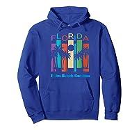 Retro Palm Beach Gardens Florida Palm Tree Souvenir Shirts Hoodie Royal Blue