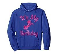 It\\\'s My 8th Birthday Girls Party 8 Pink Unicorns T-shirts T Hoodie Royal Blue