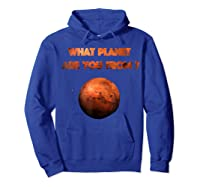 Planet Mars Planet In Solar System Shirts Hoodie Royal Blue