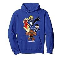 Fantastic Four Shirts Hoodie Royal Blue