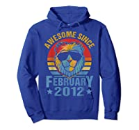Lion 2012 Awesome February 8th Birthday Gifts King T-shirt Hoodie Royal Blue