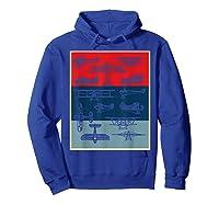 Aneisha Vintage Airplane Gift For Pilot Aviation Students Shirts Hoodie Royal Blue