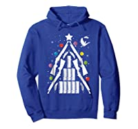 Shotgun Christmas Tree For Duck Hunters Shirts Hoodie Royal Blue