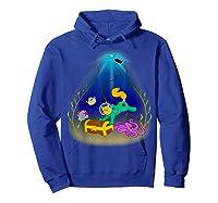 Underwater Treasure Hunter Cat Adventure Shirts Hoodie Royal Blue
