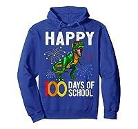 100 Days Of School Dinosaur T Rex Pencil Backpack Gift Shirts Hoodie Royal Blue