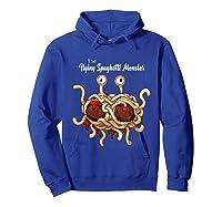 Flying Spaghetti Monster Pastafarian Vintage Shirts Hoodie Royal Blue