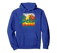 Belize Ambergris Caye Retro Vintage Travel Shirts Hoodie Royal Blue