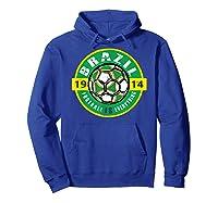 Football Is Everything - Brazil Vintage T-shirt Hoodie Royal Blue