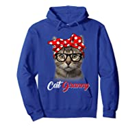 Funny Cat Granny Shirt For Cat Lovers-mothers Day Gift Hoodie Royal Blue