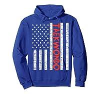 Us Flag Taekwondo Vintage Patriotic Martial Arts Lover Gift T-shirt Hoodie Royal Blue