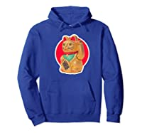 Lucky Cat Charm Winkekatze Maneki Neko Japanese Out Premium T-shirt Hoodie Royal Blue