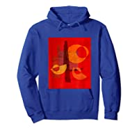 Red And Orange Abstract Shapes Shirts Hoodie Royal Blue