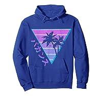 90's Retro Palm Japanese Otaku Grunge Aesthetic Vaporwave Shirts Hoodie Royal Blue