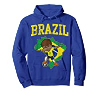 Brazil Soccer Boy Brazilian Football Dabbing Shirts Hoodie Royal Blue