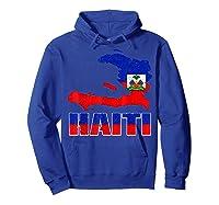 Vintage Haitian Flag I Love Haiti Shirts Hoodie Royal Blue