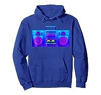 Boombox Trippy Hip Hop Rave Shirts Hoodie Royal Blue