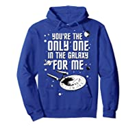 Star Trek Only One For Me Valentine's Day Graphic Shirts Hoodie Royal Blue