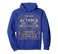 October 1992 Man Myth Legend 28th Birthday 28 Years Old Shirts Hoodie Royal Blue