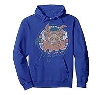 The Lion King Pumbaa Matata Text Portrait Shirts Hoodie Royal Blue