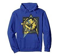 Star Trek Captain James Tiberius Kirk Fan Art Shirts Hoodie Royal Blue