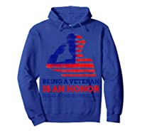 S Being A Veteran Is An Honour Being A Dad Is Priceless T-shirt Hoodie Royal Blue