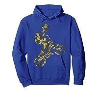 Racing Extreme Sports Bike Rider Camouflage Design Shirts Hoodie Royal Blue
