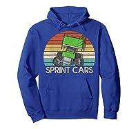 Vintage Sprint Cars T-shirt Hoodie Royal Blue