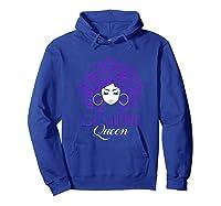 Black Afro Hair Gemini Queen Birthday Gift T-shirt Hoodie Royal Blue