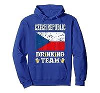 Czech Republic Drinking Team Funny Beer T Shirt Hoodie Royal Blue