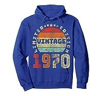 50th Birthday Gifts Retro Vintage 1970 Limited Edition T-shirt Hoodie Royal Blue