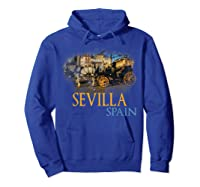 Sevilla Spain Watercolor Family Souvenir Shirts Hoodie Royal Blue