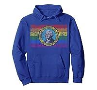 Washington Lgbt Gay Pride Flag T-shirt Hoodie Royal Blue