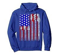 Guitar Vintage American Usa Flag Rock 4th Of July Shirts Hoodie Royal Blue