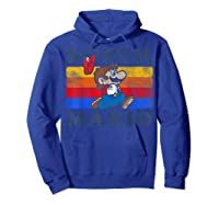 Super Mario Losing Hat Stripes Shirts Hoodie Royal Blue