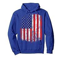 Distressed American Flag, Patriotic Shirts Hoodie Royal Blue