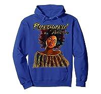 Phenoal Natural Hair Gift For Black Woman Shirts Hoodie Royal Blue