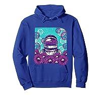 Astronaut Flowers Daisy Bubble Ocean Shirts Hoodie Royal Blue