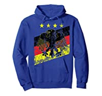Germany Soccer Style Deutschland 1990 Shirts Hoodie Royal Blue