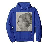 Ballet Bun T-shirt Hoodie Royal Blue