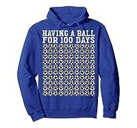 Soccer Ball 100 Days Of School Shirt Player Tea Boy Gift Hoodie Royal Blue