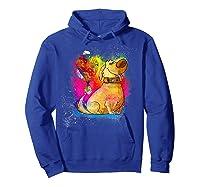 Pixar Up Dug Watercolor Rainbow Graphic Shirts Hoodie Royal Blue
