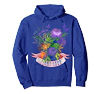 Plant Lady Shirt Gardening Gift Watercolor Flower Garden T-shirt Hoodie Royal Blue