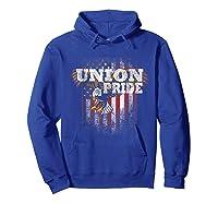 Union Pride American Flag Eagle Labor Day Usa Worker Shirts Hoodie Royal Blue