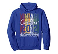 Gift For 8th Birthday October 2012 Vintage Limited Edition Premium T-shirt Hoodie Royal Blue